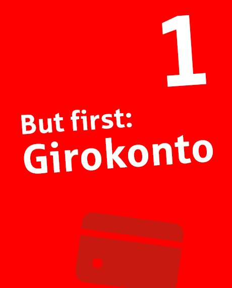 """But first: Girokonto"" – Textbox 