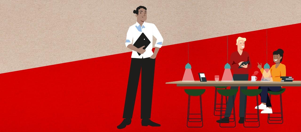 Abbildung unserer modernen BeratungsCenter mit Lounge und Kaffeebar   Sparkasse Hannover
